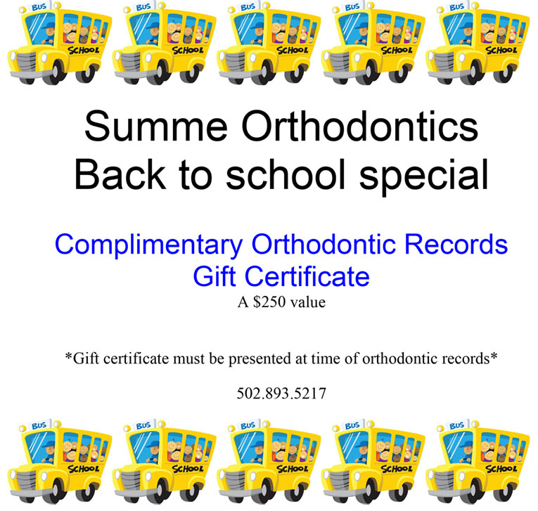 Back to School Gift Certificate